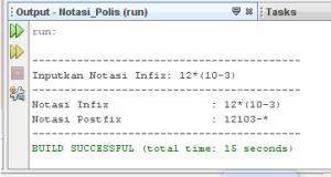 Program Infix ke Postfix Dengan Java